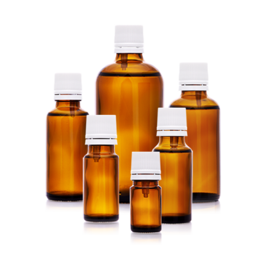 Folyadéküveg és kupak cseppentőbetéttel, 5 ml