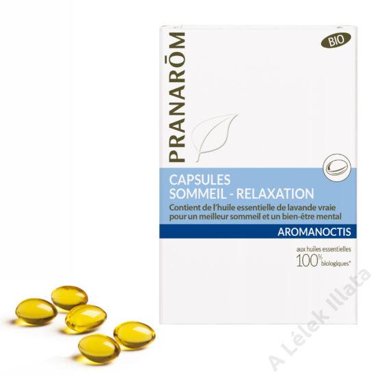 AROMANOCTIS FORTE alvást és relaxációt segítő kapszula 30 db, bio